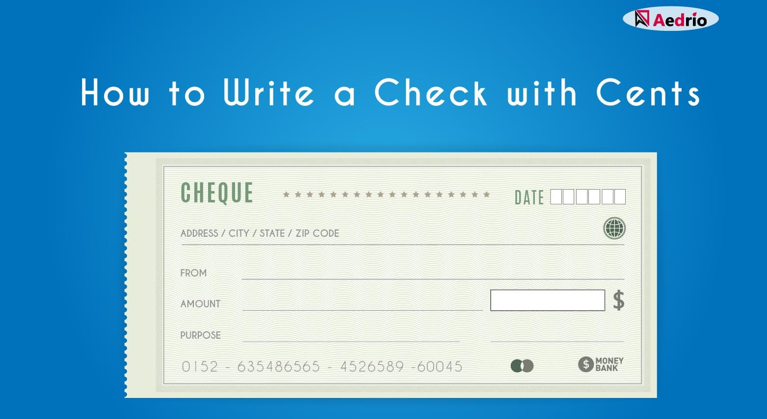 How To Write A Check With Cents The Easy Way